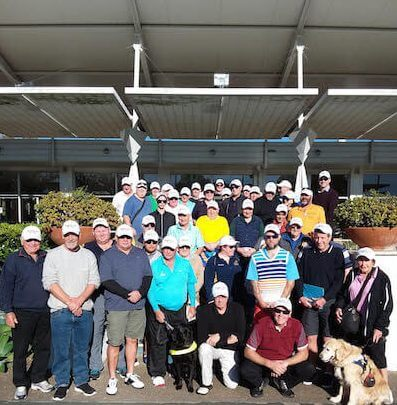 Blind Golf Day At Virginia Club